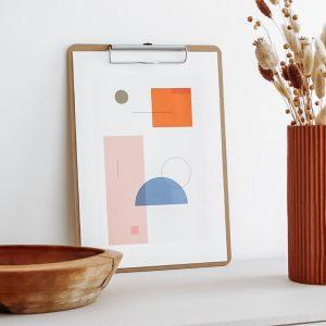 affiche moderne geometrique a imprimer gratuit