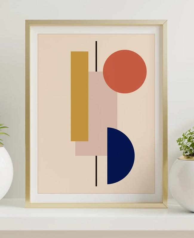 affiche moderne geometrique