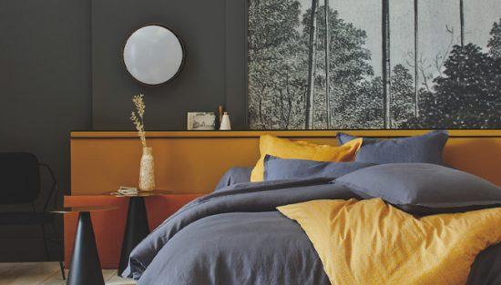 deco chambre moderne jaune moutarde