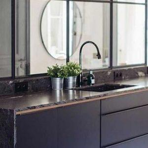deco cuisine marbre noir