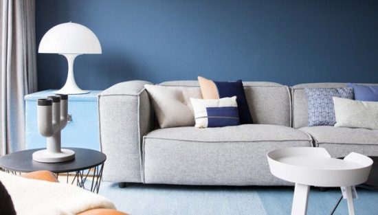 deco salon moderne bleu
