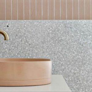 deco toilettes wc gris rose