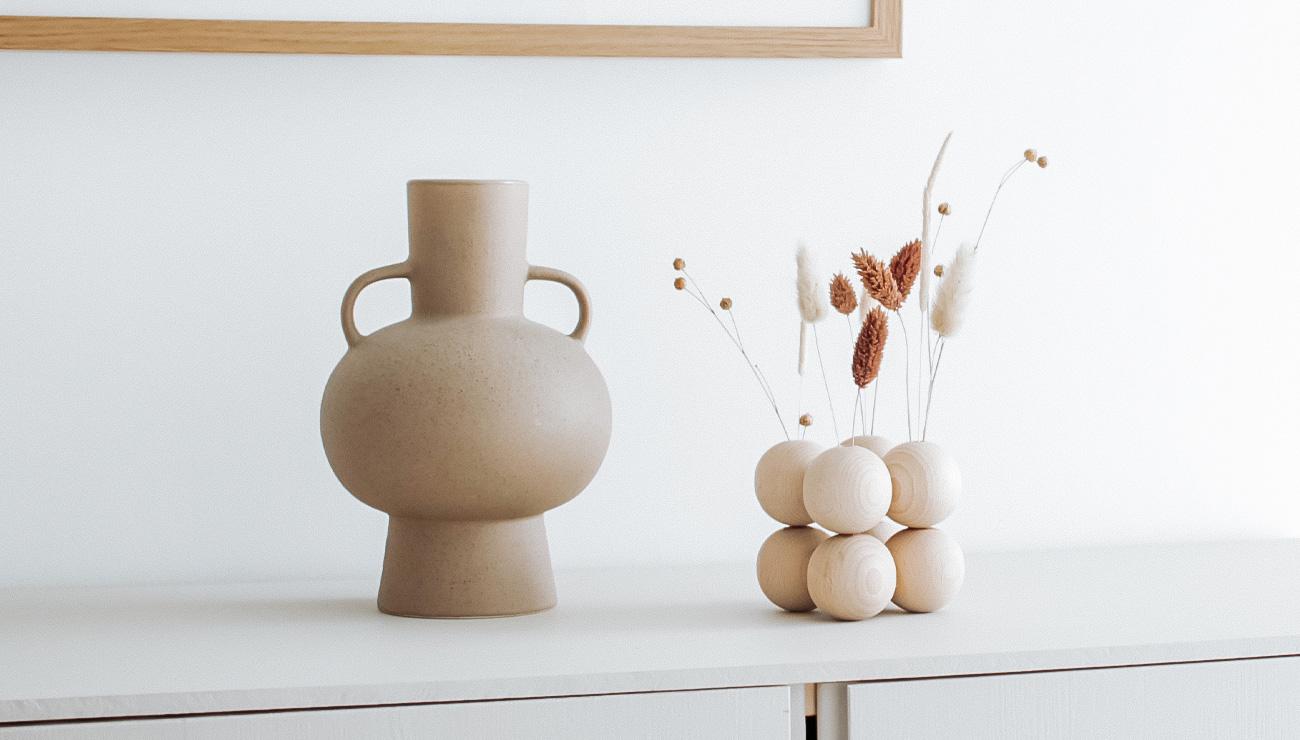 tuto deco vase perle bois fleurs sechees diy