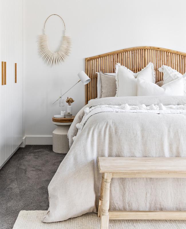 deco chambre beige blanc bois