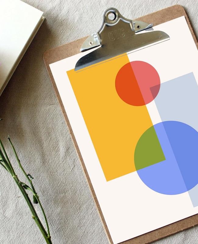 printable affiche geometrique