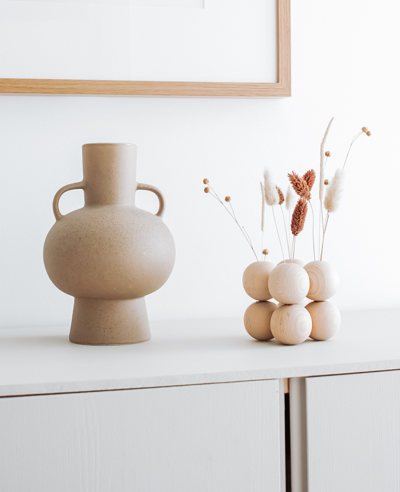 vase perle bois fleurs sechees tuto deco diy