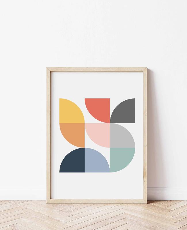 affiche moderne geometrique colorée a imprimer