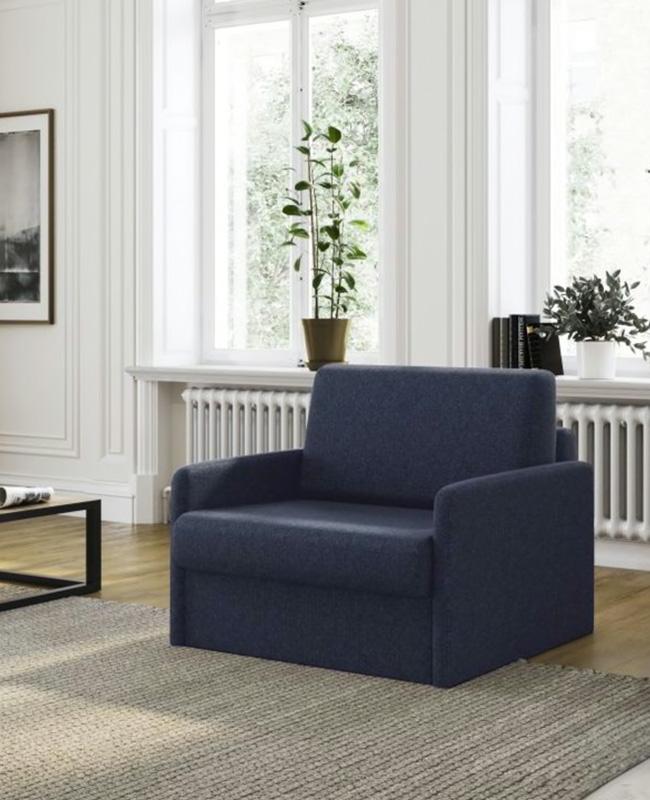fauteuil convertible moderne bleu