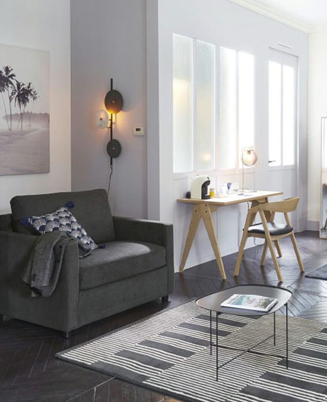 fauteuil lit convertible gris