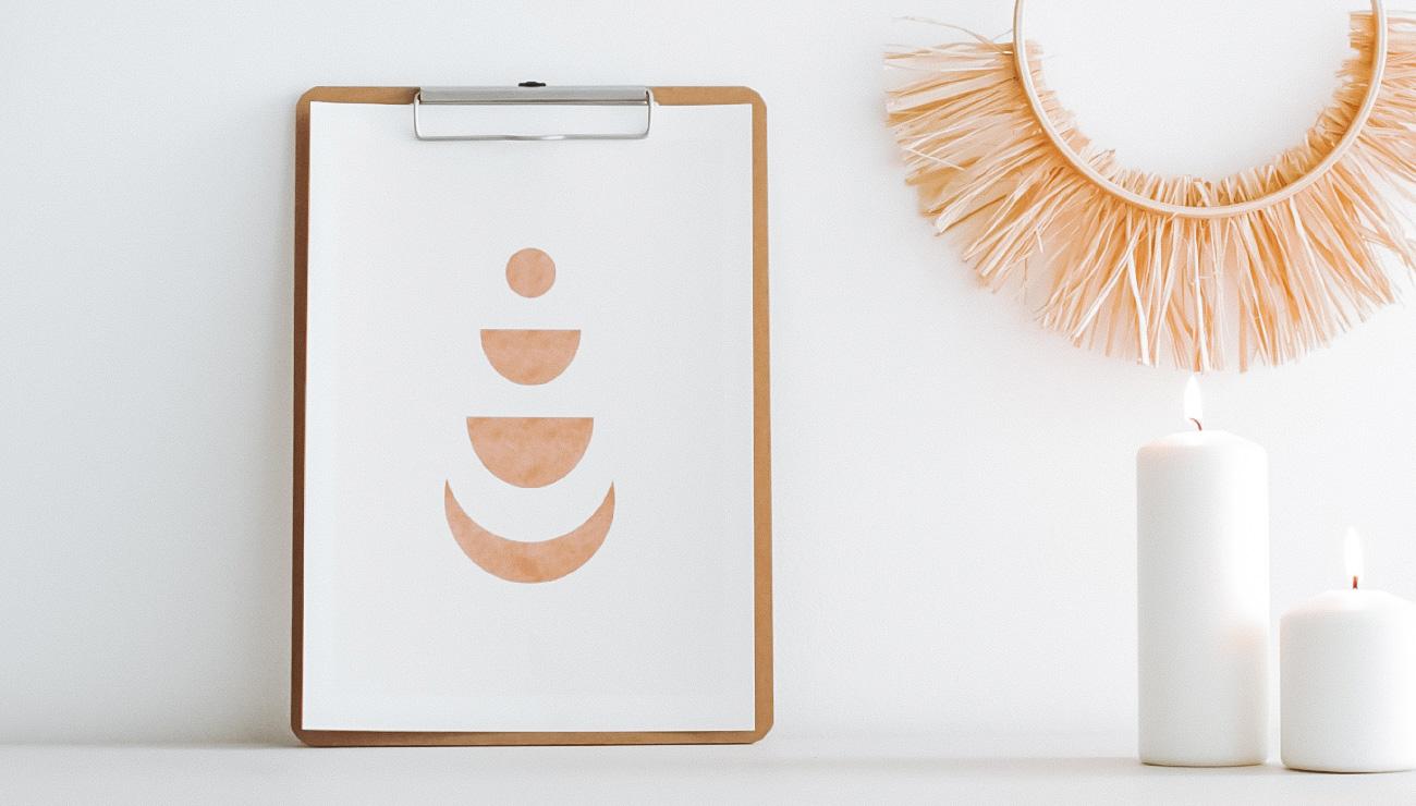 affiche lune minimaliste a imprimer gratuit printable