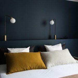 deco chambre bleu nuit blanc