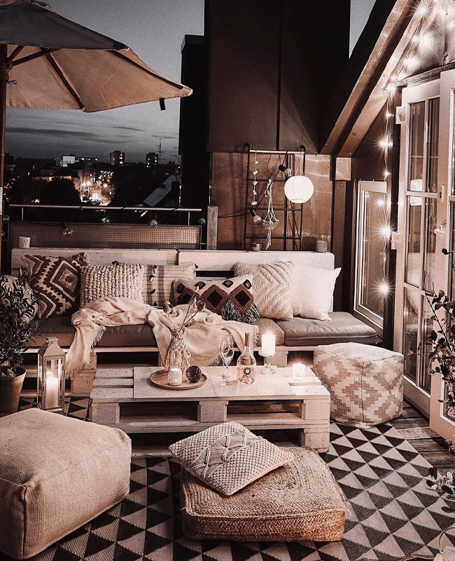 deco terrasse cocooning lampes