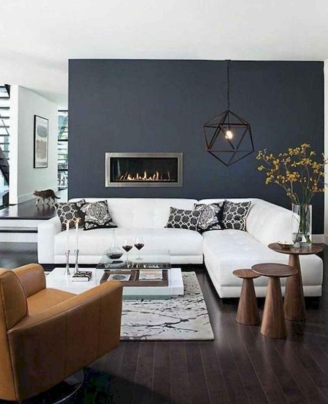 canape angle blanc deco salon moderne